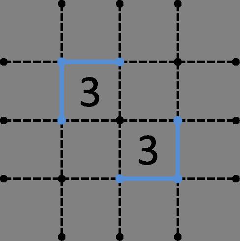 3同士が斜めに隣接-解答