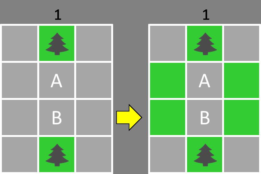芝生確定パターン2